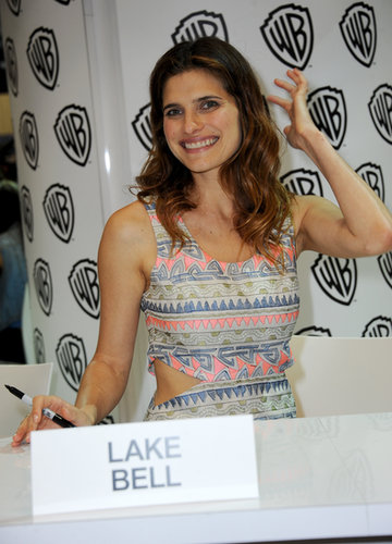 Lake Bell wore a cutout dress for Comic-Con festivities.