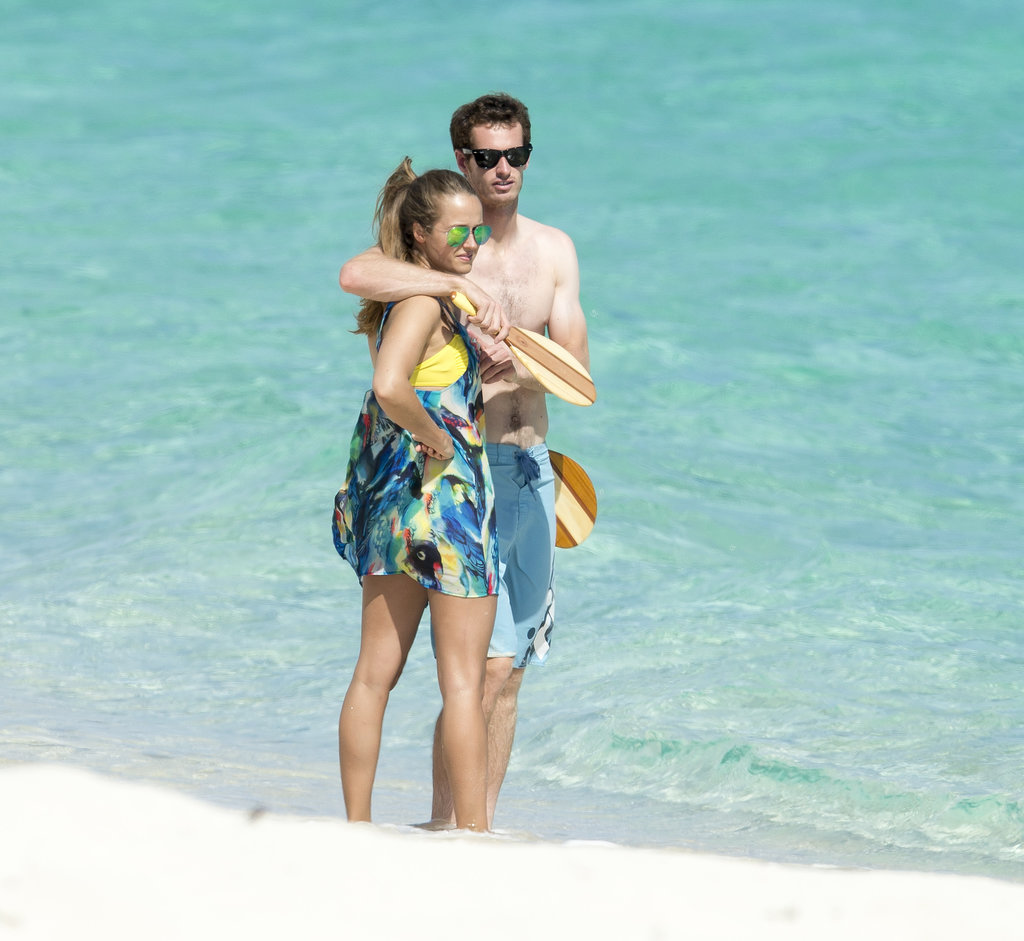 Recent Wimbledon winner Andy Murray took a well-earned break with his girlfriend Kim Sears on July 15 — the pair hit the Bahamas where they played beach games, and showed plenty of PDA.