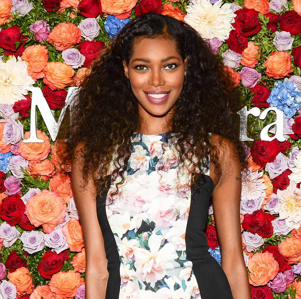 Jessica White tried on one of the biggest trends of the season: the braid. She twisted up her bangs and tucked them behind her ear, leaving the rest of her hair in casual curls.
