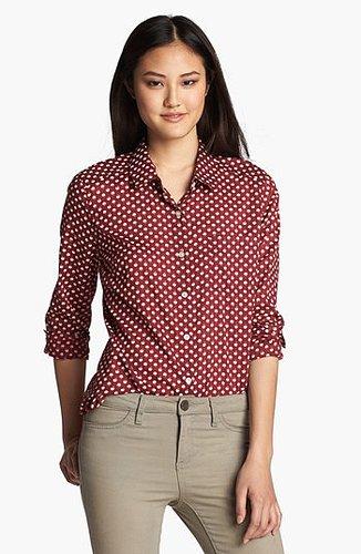 Halogen® Roll Sleeve Shirt (Regular & Petite)   Nordstrom