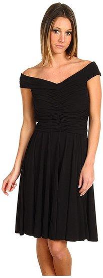 Z Spoke ZAC POSEN - Silk Jersey Full Dress (Black) - Apparel