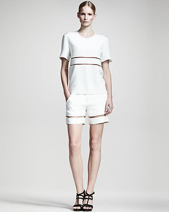Alexander Wang Sheer-Stripe Shorts