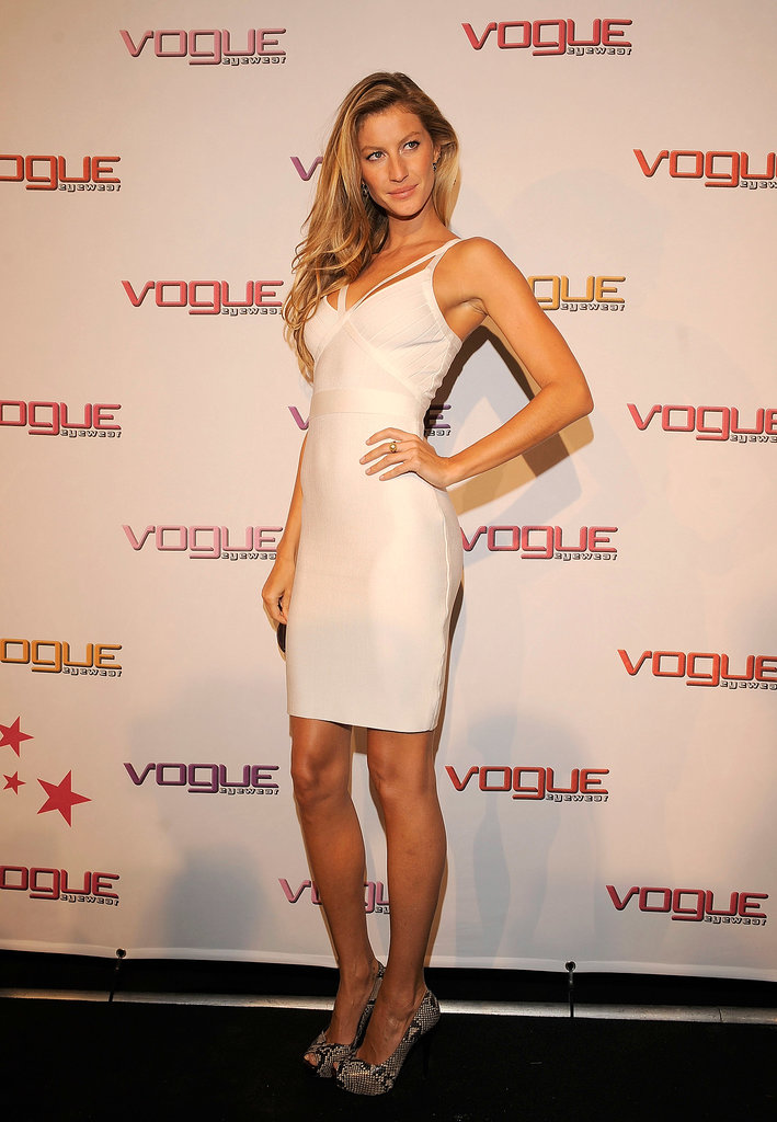 There's nothing sexier than a white-hot bandage dress.