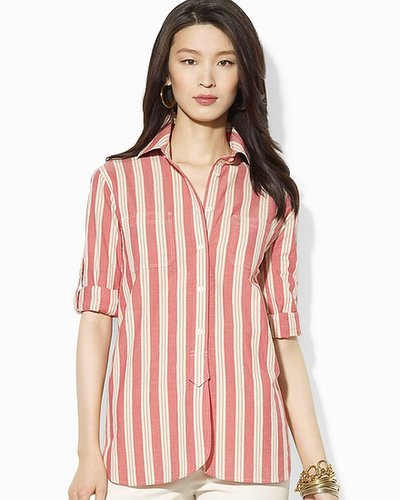 Lauren Ralph Lauren Stripe Cotton Workshirt
