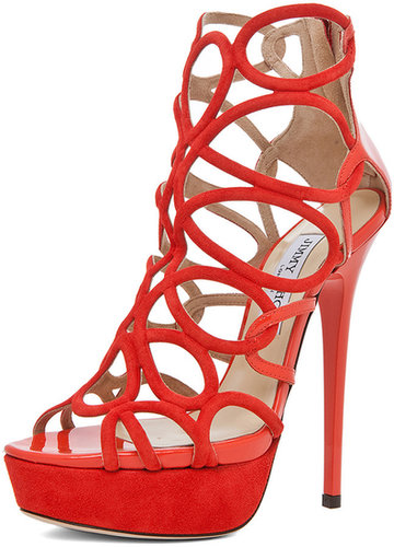 Jimmy Choo Brazil Platform Sandal in Tangerine