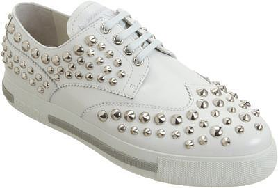 Prada Linea Rossa Studded Wingtip Sneaker
