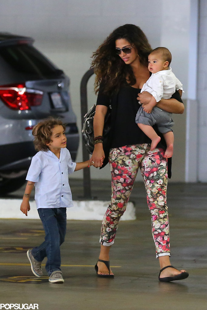Camila Alves was out with little Levi and Livingston in LA.