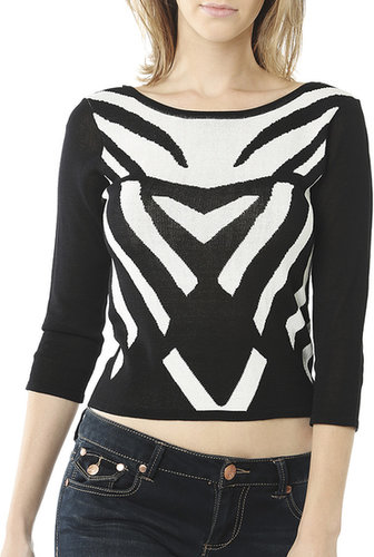 Jacquard Crop Sweater