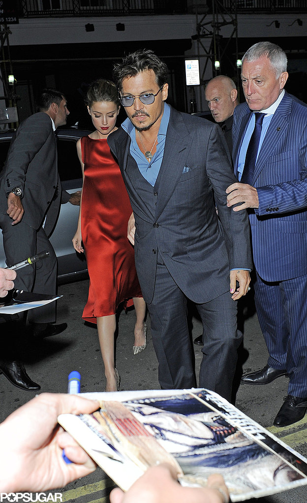Johnny Depp and Amber Heard had a date night in London.