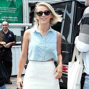 Julianne Hough Wearing Denim Shirt