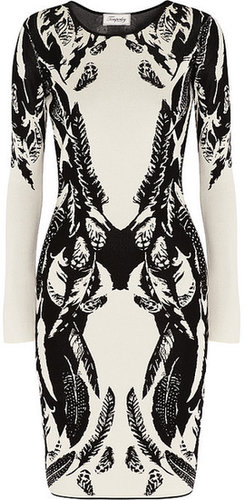Temperley London Stretch-knit intarsia dress