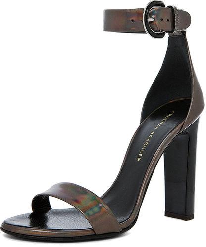 Proenza Schouler Taz Dandy Ankle Strap Heel in Metallic Hologram