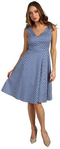 Kate Spade New York - Kelley Dress in Polka Dot (Royal Blue Benay Dot) - Apparel