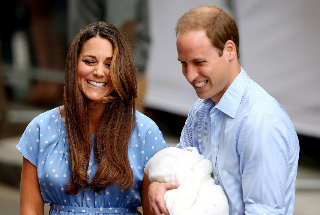 The Duke and Duchess of Cambridge were all smiles when they introduced their baby prince to the world.