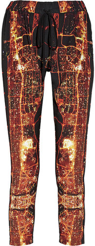 Clover Canyon Dubai In The Sky printed crepe pants