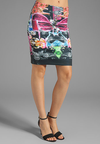Clover Canyon Animal House Neoprene Skirt