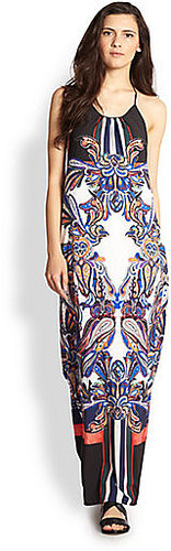 Clover Canyon Printed Halter Maxi Dress