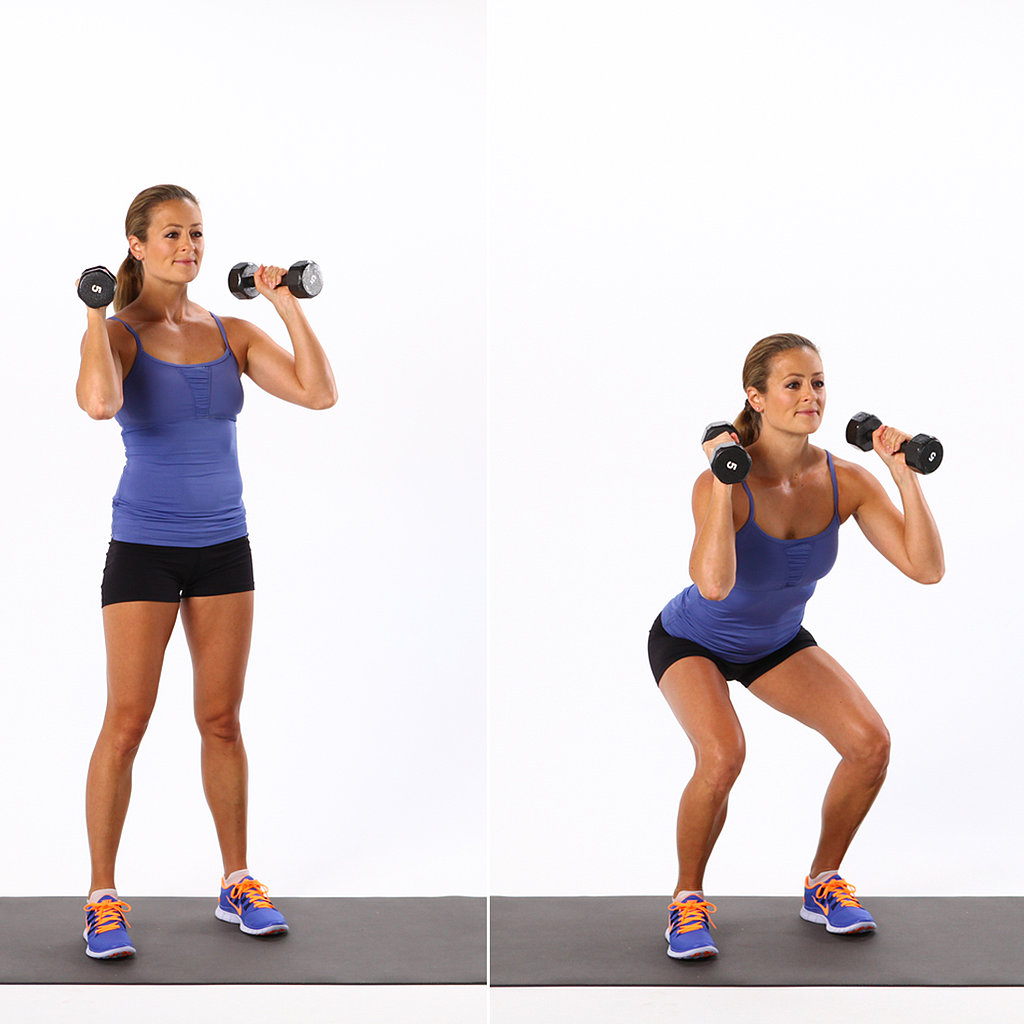 Dumbbell Squat | The Moves You Should Be Doing For a Perkier Butt ...