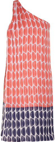 Diane von Furstenberg Liluye printed crinkled silk-chiffon dress