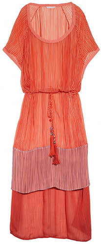 Diane von Furstenberg Printed silk-chiffon beach dress