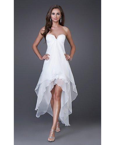 Sexy Beading Sweetheart Chiffon Sheath Cocktail Dress