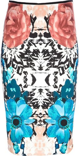 Pinko floral pencil skirt