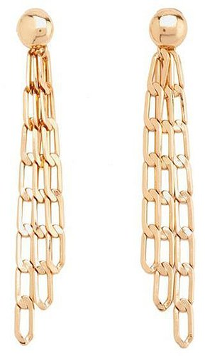 Triple Chain Link Earrings