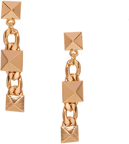 ASOS Stud & Chain Link Drop Earring