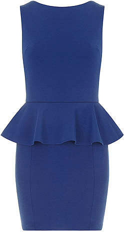 Royal blue peplum dress