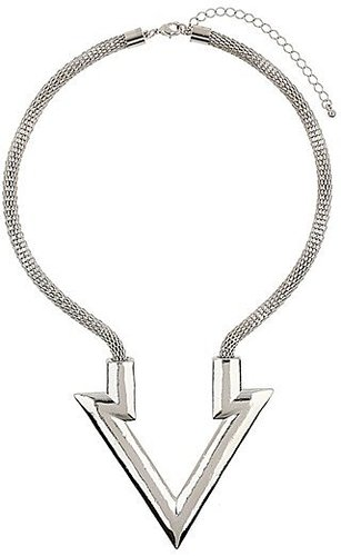 Topshop Arrow Pendant Necklace Silver