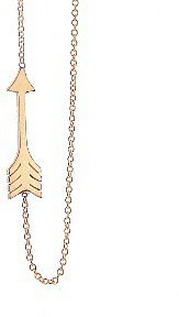 Jennifer Meyer Small Arrow Pendant - Rose Gold