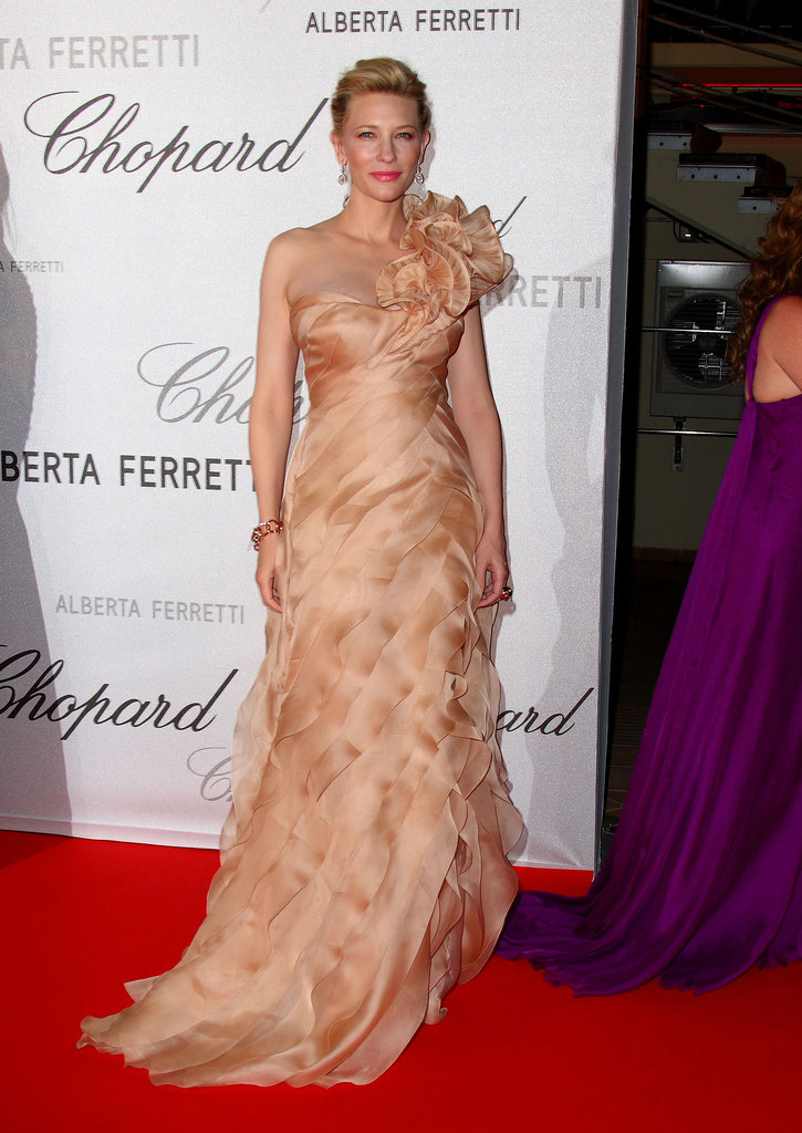 Cate Blanchett in a Peach One-Shouldered Gown at the 2008 Cannes Film Festival