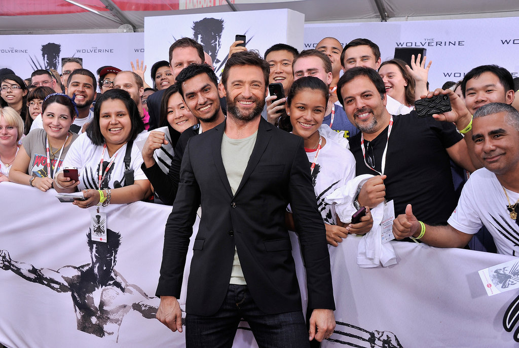 Hugh Jackmsn got up close and personal with fans at a The Wolverine fan event in New York on July 23.