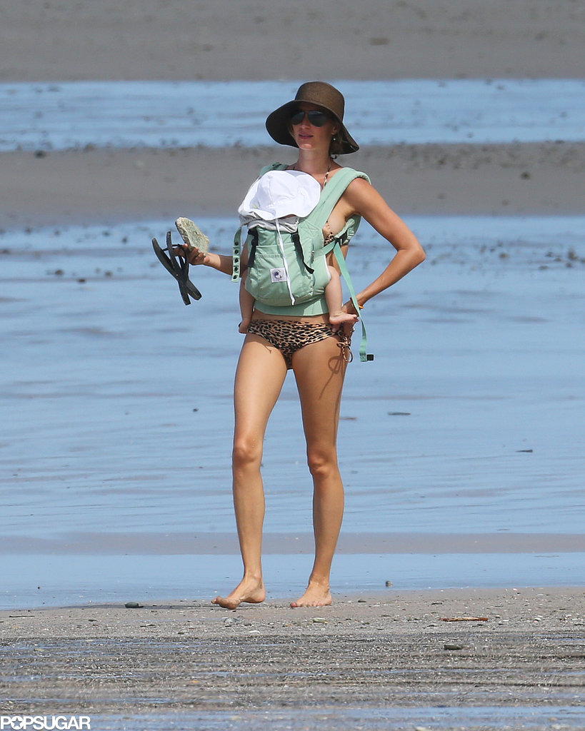 Bikini-Clad Gisele Clings to Baby Vivian on the Beach!