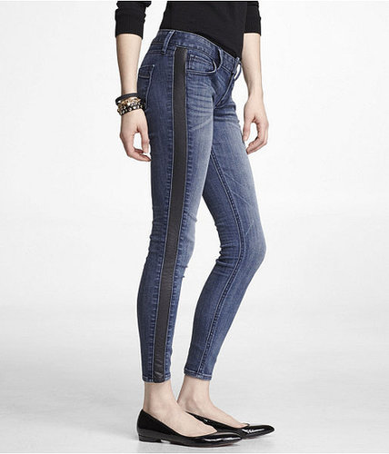 Stella (Minus The) Leather Trim Ankle Jean Legging