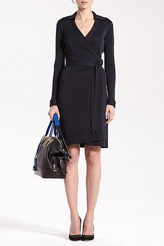 New Jeanne Two Matte Jersey Wrap Dress In Black