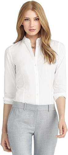 Tailored Fit Alternating Stripe Luxury Dress Shirt