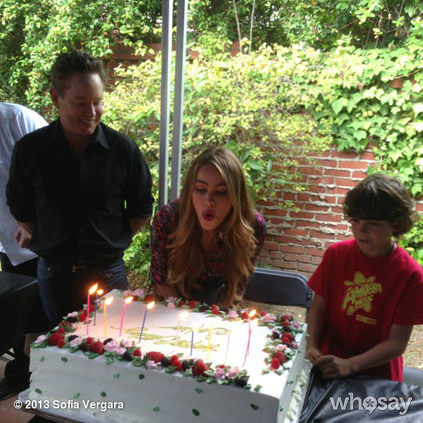 Sofia Vergara celebrated her Summer birthday on set. Source: Sofia Vergara on WhoSay