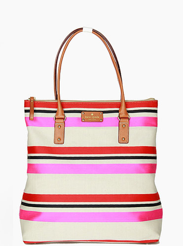 KATE SPADE JUBILEE STRIPE BON SHOPPER SHOULDER PURSE RAINBOW BAG