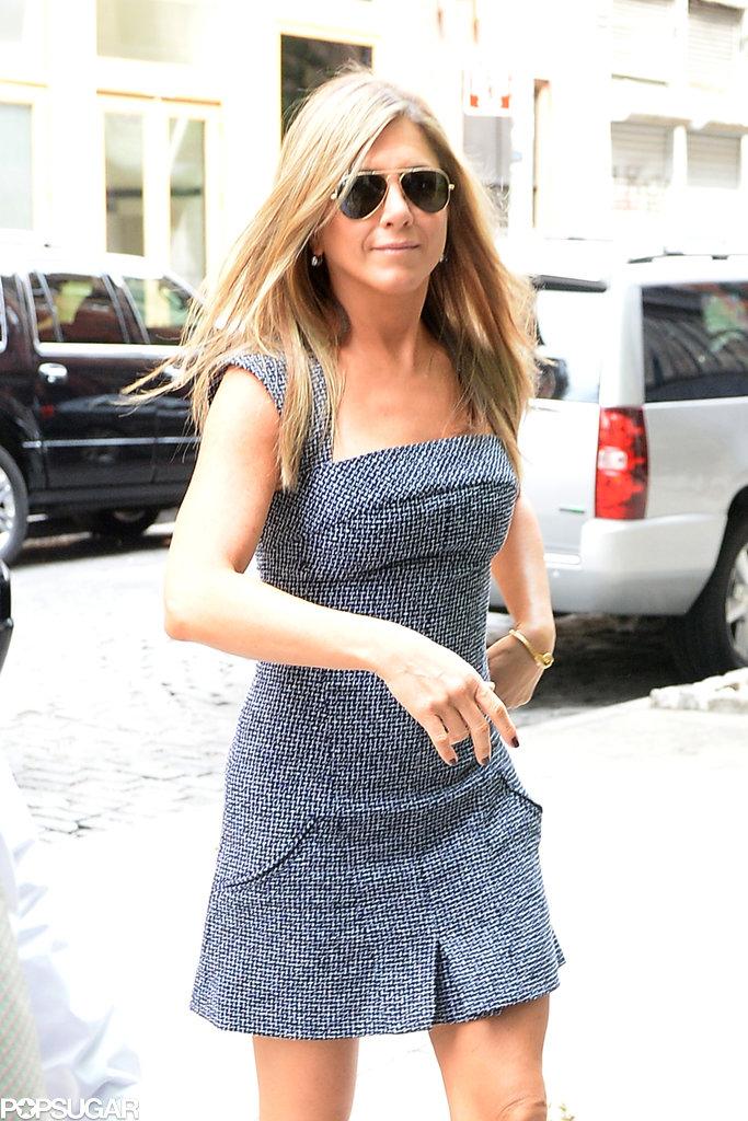 Jennifer Aniston ran errands in NYC.