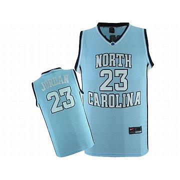 Jordan #23 North Carolina Nike Jersey Blue
