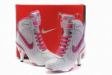 nike air force 1 heels white/pink