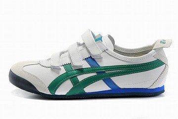white green blue men asics kanuchi shoes