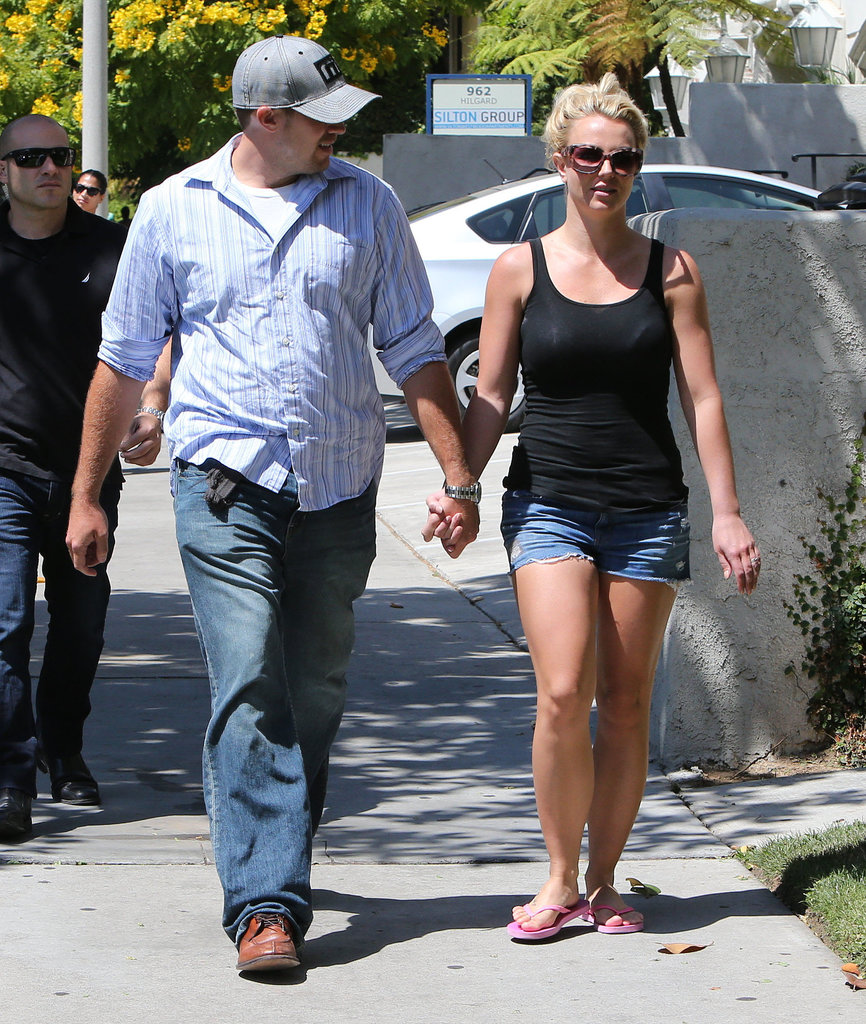 Britney Spears and David Lucado held hands.