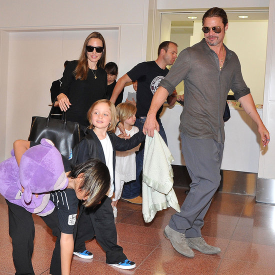 Brad Pitt, Angelina Jolie and Kids in Tokyo Pictures