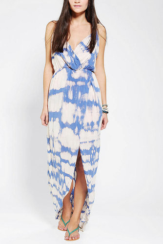 Blu Moon Tie-Dye Surplice Tulip Dress