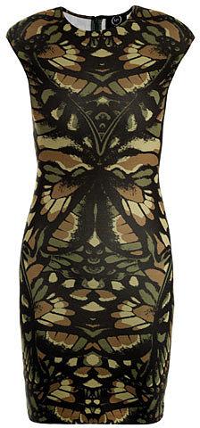 McQ Alexander McQueen Camo-print jersey dress