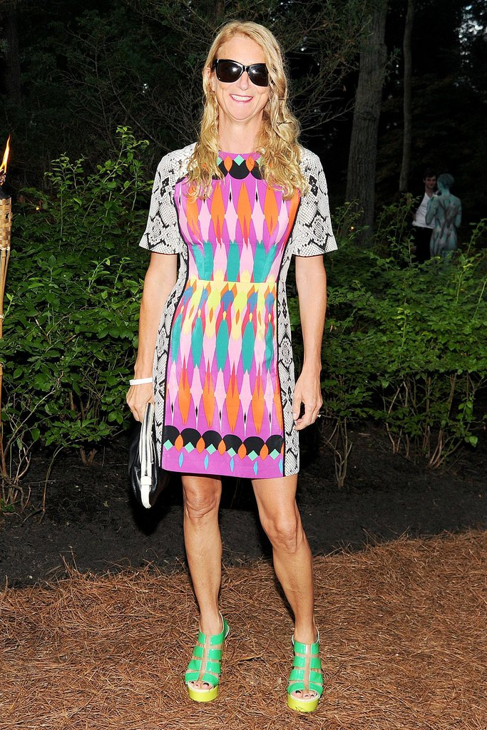 Nanette Lepore dared to pair bright colors at the Watermill Center's Summer party.