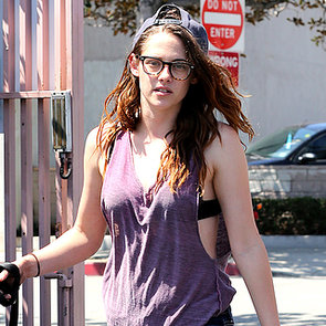 Kristen Stewart With a Black Dog | Photos