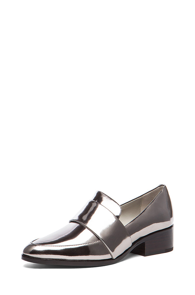 The one item I buy over and over again every season is loafers. Having stocked up on all the basics, I'm ready for a statement purchase. These 3.1 Phillip Lim loafers in gunmetal ($425) can act as a neutral and will bring just enough flavor to my monochromatic looks. — Meg Cuna, style director